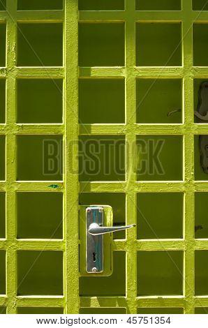 Green Colored Door Locked