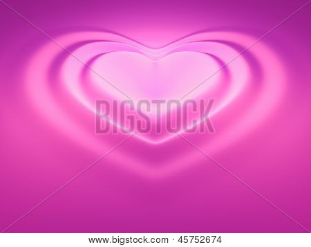 An image of a beautiful heart wave in pink