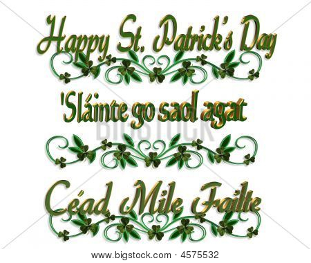 St Patricks Day Borders Gaelic Stock Illustration - 4575532 | BIGSTOCK