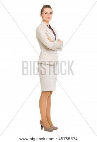 Full Length Portrait Of Confident Business Woman