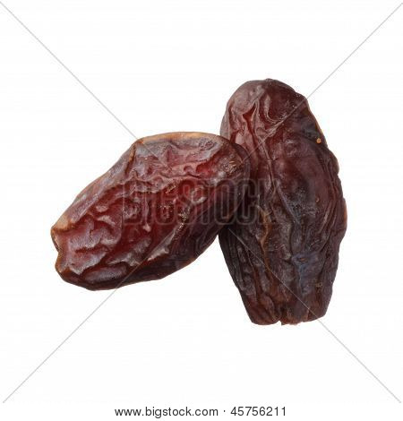 Dried Medjool Dates Isolated On White Background