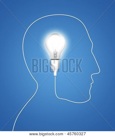Bulb Idea Silhouette Concept Light