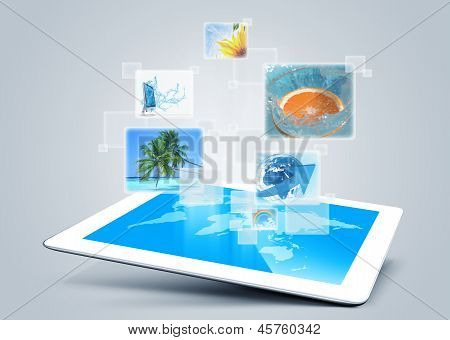 Tablet Tecnology Background