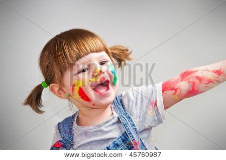 Bebê menina artista
