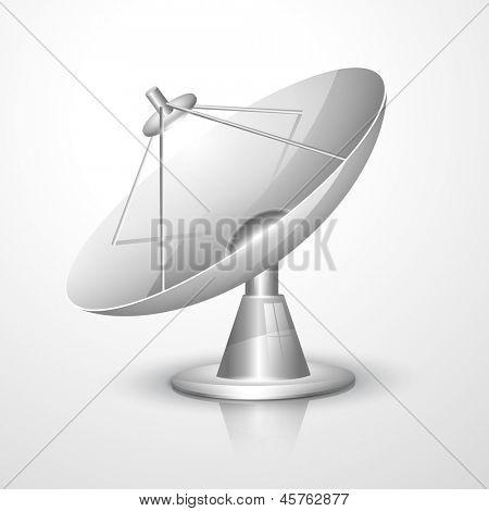 Ilustración de vector de antena parabólica