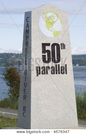 50Th Parallel Marker In Campbell River British Columbia