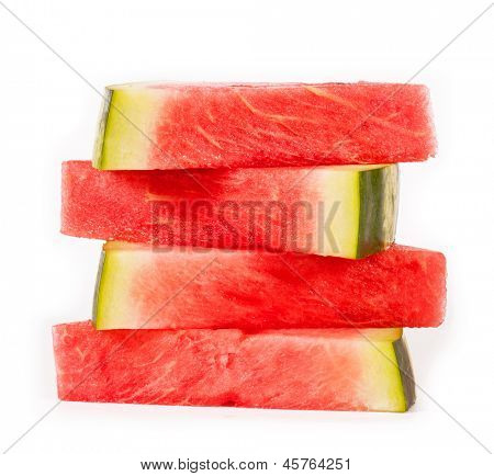slices of watermelon. isolated on white background