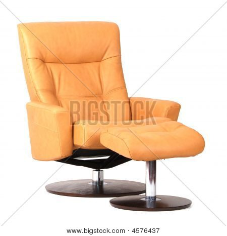 Yellow Luxury Leather Recliner