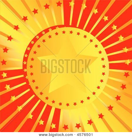 Abstract Background With Stars And Beams
