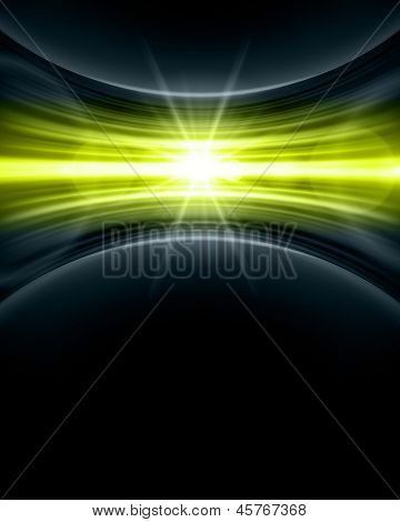 Smooth technology light lines background. Raster version from vector version.