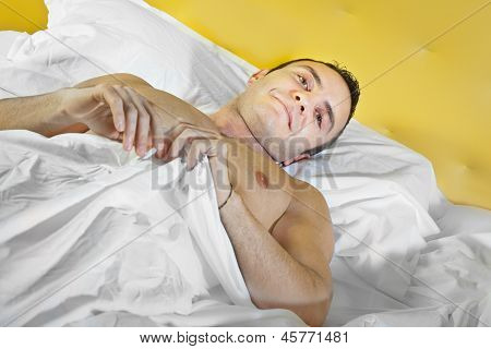 Guy In Bed