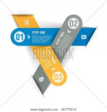 Progress infographics template. Vector.