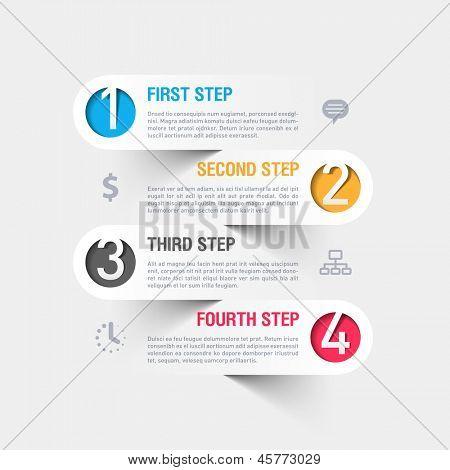 Business-Schritte-Infografiken-Template. Vektor.