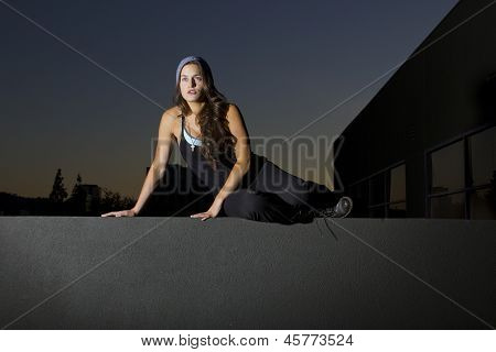 female parkour