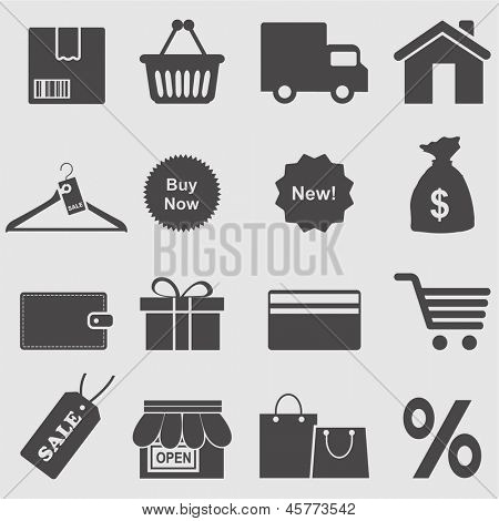 Shopping icon set.Vector