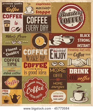 Collection of Coffee Design Elements.Vector Illustration