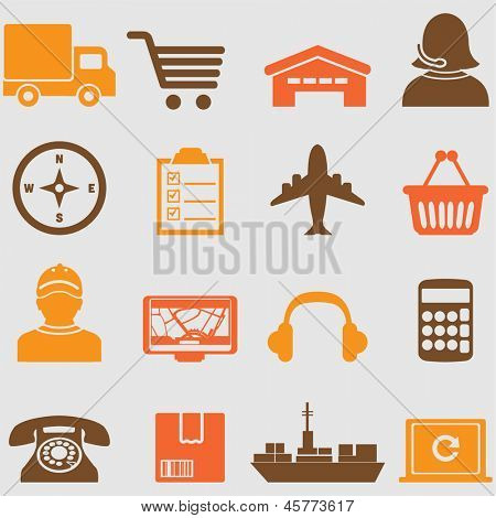 Logistic icons set.Vector