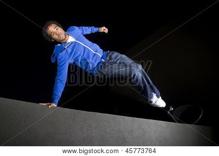 male parkour runner