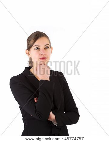 Pensive Business Woman