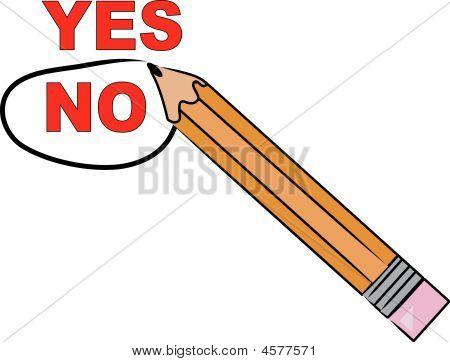 No. elección del lápiz