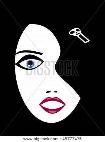 Goth Girl Face