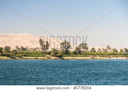 Waterscape at Nile near Luxor in Egypt