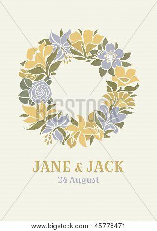 Wedding Design With Floral Wreath
