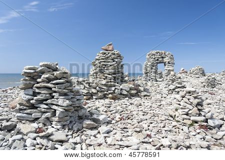 Stowed Stone Objects In Saaremaa, Estonia