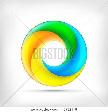 Colorful swirl icon. Abstract bright circle infinite loop icon. Spectrum circle sign.