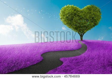 Árbol de corazón