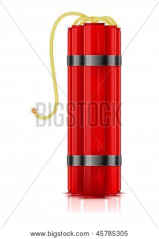 Red dynamite sticks
