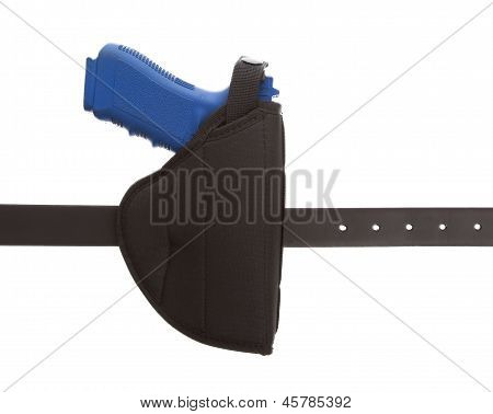 Dirty Blue Training Gun Isolated On White