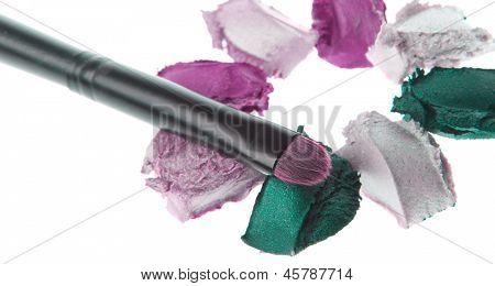 cream eyeshadows  isolated on white background