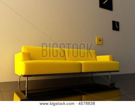 Interior - Yello Couch