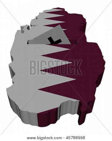 Qatar election map with ballot paper illustration