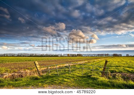 Beautiful Farmland Before Sunset