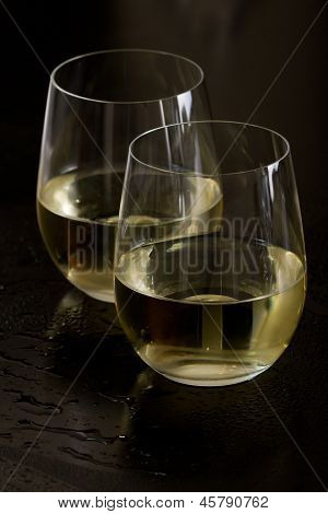 Stemless White Wine Glasses