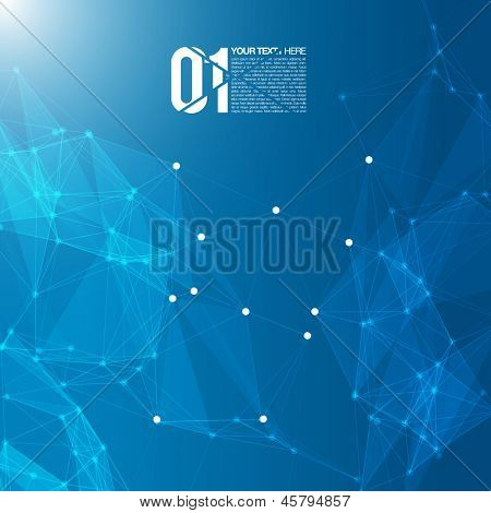 3D Blue Abstract Mesh Background with Circles, Lines and Shapes | EPS10 Design Layout for Your Business
