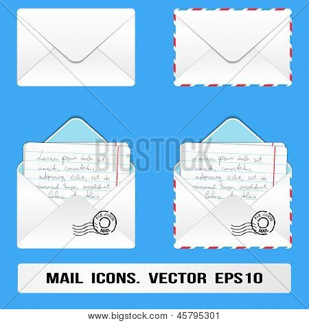 E Mail Icons Set