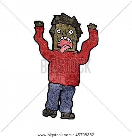 cartoon terrified man