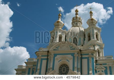 Smolniy Cathedral, Saint Petersburg - One Of Most Famous Masterpieces By Architect Rastrelli