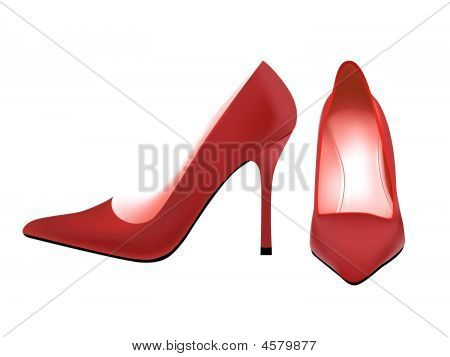 Red Pump Shoes