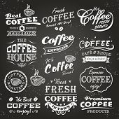 stock photo of latte coffee  - Collection of coffee shop sketches - JPG