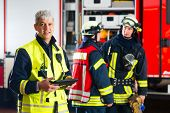 stock photo of fire-breathing  - Fire brigade  - JPG
