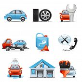 stock photo of adjustable-spanner  - Car service icons - JPG