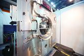 MOSCOW - NOVEMBER 15: Presentation of industrial washing machine at 14th International Exhibition of