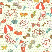 Travel concept seamless pattern. Seamless pattern can be used for wallpapers, pattern fills, web pag