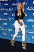 LOS ANGELES - MAY 16:  Nicki Minaj in the American Idol Season 12 Finale Press Room at the Nokia The