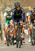 BARCELONA - MARCH, 24: Jose Herrada Movistar Team rides during the Tour of Catalonia cycling race th