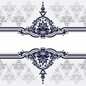 stock photo of dessin  - Classic Decoration And Wallpaper Background editable vector illustration - JPG